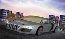 Super Carro De Corrida No Circuito