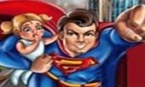Super Homem resgatando pessoas