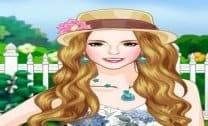 Vestir Menina do jardim