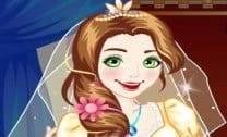Vestir Rapunzel para casamento